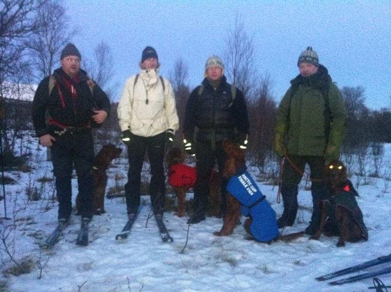 Nr 7. 21p, Irsksetterlaget: Roy-Henning og Kenzo(reserve), Tore og Storm, Ronny og Tjikkom, Arnfinn og Pelle
