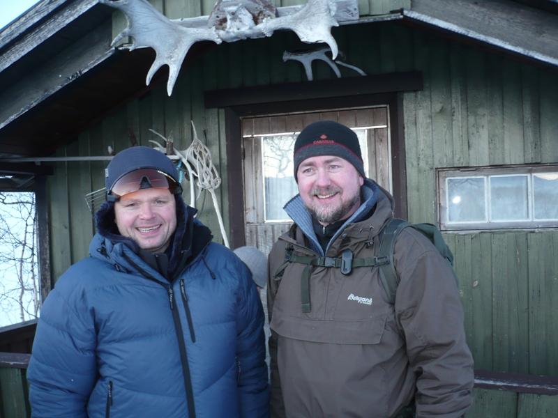 Klubbmester Svein Erik og dommer Rune Mikalsen